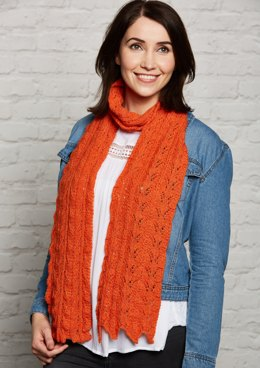 Dainty Lace Scarf in Rooster Alpaca 4 Ply - Downloadable PDF