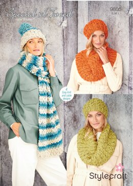 Women Accessories in Stylecraft Special XL Tweed - 9805 - Downloadable PDF