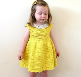 PDF17 Crochet Collar Dress