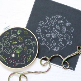 Hawthorn Handmade Black Seedhead Spray Embroidery Kit