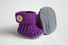 Violet Drops Crochet Baby Booties