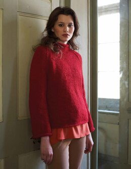 """Estella Jumper"" - Jumper Knitting Pattern For Women in Debbie Bliss Paloma - DBS016"