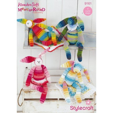 Crochet Bunny and Blankie in Stylecraft Wondersoft Merry Go Round and Special DK - 9161