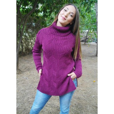 Sweeping ribs sweater