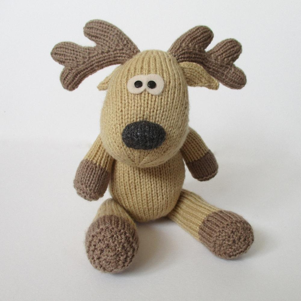 Rupert reindeer Knitting pattern by Amanda Berry Knitting Patterns LoveKn...