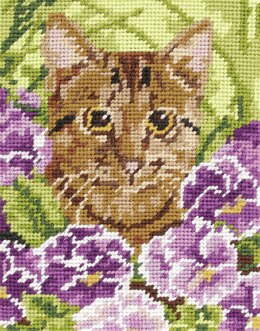 Anchor Cat Tapestry Kit - 14 x 18 cm