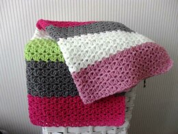 Candy baby blanket