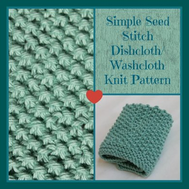 Simple Seed Stitch Dishcloth Knitting pattern by Stay@Home ...