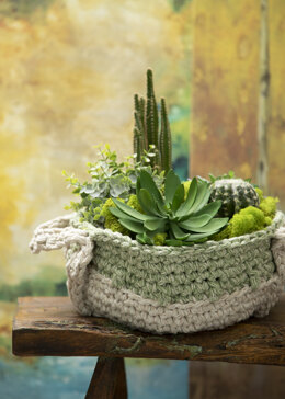 Sage Duo Basket in Premier Yarns Home Cotton XL - Downloadable PDF