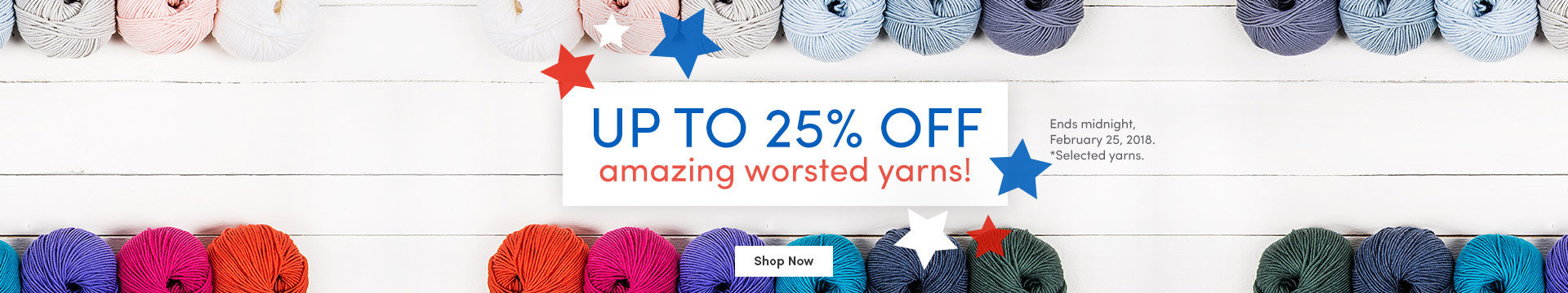 LK Marketing NA 25% off Worsted 18