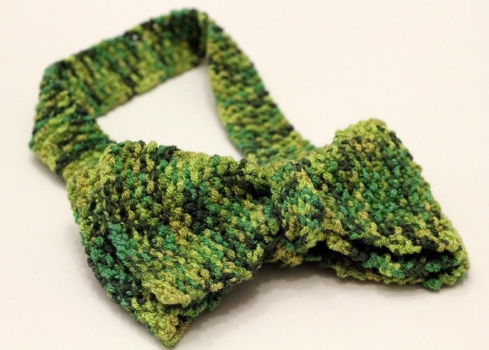 Seed Stitch Bow Tie Knitting Pattern By Melissa Eagan Knitting