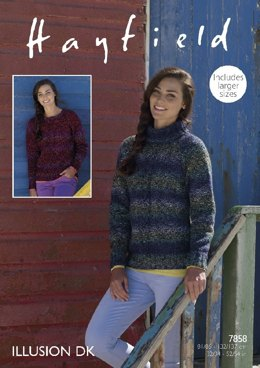 Sweaters in Hayfield Illusion DK - 7858