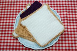 Crochet Pattern for a Peanut Butter & Jam / Jelly Sandwich - PBJ Sandwich - Crochet Food