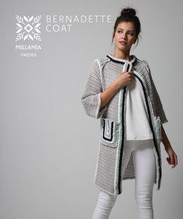 Bernadette Coat in MillaMia Naturally Soft Aran and Naturally Soft Super Chunky - Downloadable PDF