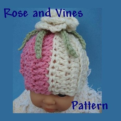 Rose and Vines Hat by Ashton11 Newborn to Age 5