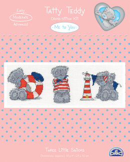 DMC Me To You - Tatty Teddy & Tiny Tatty Teddy - Three little sailors - 22cm x 18 x 1cm