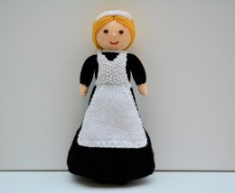 Violet - A Lady's Maid Doll - 1921 - Doll Knitting Pattern