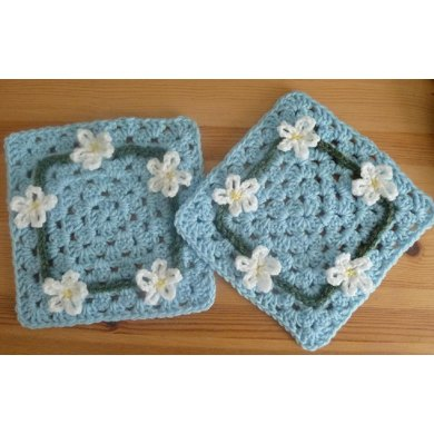 Daisy Chain Square Pattern