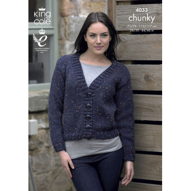 Jacket in King Cole Chunky Tweed - 4033