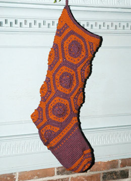 Hexagon Stocking in Berroco Comfort Aran