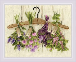 Riolis Herbs Cross Stitch Kit - 30cm x 24cm