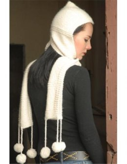 Hooded Scarf in Misti Alpaca Hand Paint Chunky - 2015