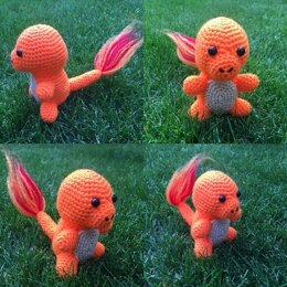 Pokemon Charmander Amigurumi Doll