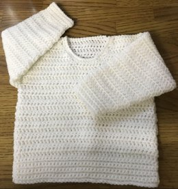 Easy Round Neck Sweater for Baby Crochet Pattern