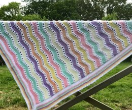 Ice Cream Sundae Ripple Baby Blanket