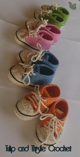 High Top Style Crochet Booties 0-3_3-6 months