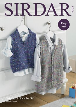 Tank Top and Waistcoat in Sirdar Snuggly Doodle DK - 5208 - Downloadable PDF