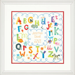 Dimensions Alphabet Birth Record Cross Stitch Kit - 30cm x 30cm