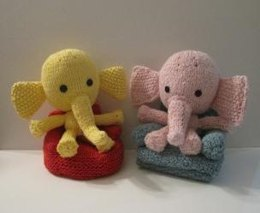 Knitkinz Yellow and Pink Elephants