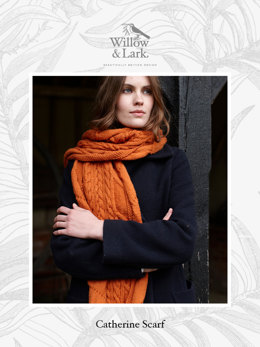 """Catherine Scarf"" - Scarf Knitting Pattern For Women in Willow & Lark Ramble"
