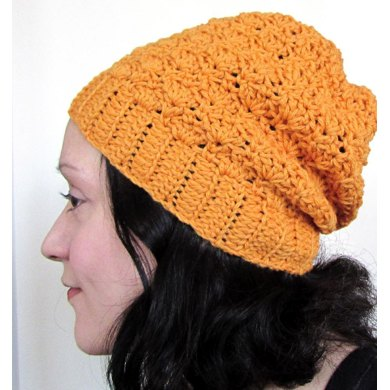 Slouch Shells Beanie with Ribbed Edge