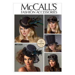 McCall's Hats in Five Styles M7335 - Paper Pattern Size All Sizes in One Envelope