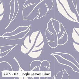 Craft Cotton Company Botanical Elements - Jungle Leaves Lilac