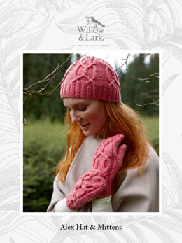 """Alex Set"" - Hat and Wristwarmers Set Knitting Pattern in Willow & Lark Ramble-4"