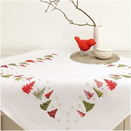 Rico Firs Embroidery Tablecloth Kit