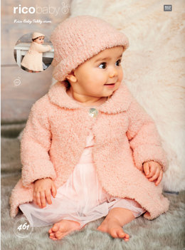 Coats and Hat in Rico Baby Teddy Aran - 461 - Leaflet