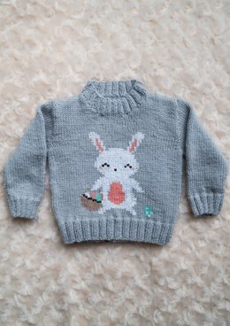 Intarsia - Easter Bunny Chart - Childrens Sweater
