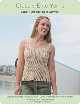 Bondi Top in Classic Elite Yarns Mountaintop Canyon - Downloadable PDF