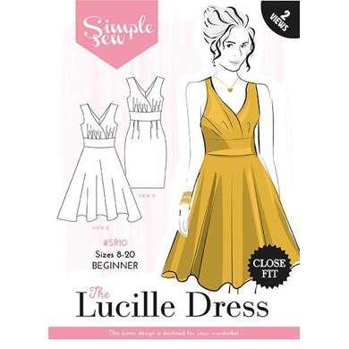 Simple Sew Patterns The Lucille Dress SR10 - Paper Pattern, Size 8-20