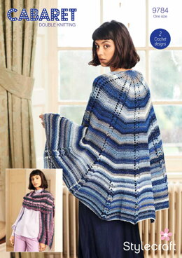 Crochet Shawls in Stylecraft Cabaret - 9784 - Downloadable PDF