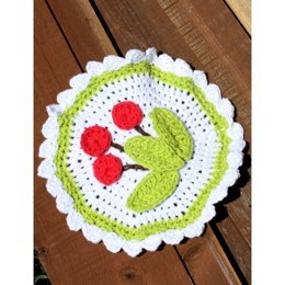 Cherry Dishcloth in Lily Sugar 'n Cream Solids
