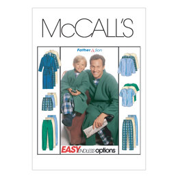McCall's Boys'/Men's Robe With Tie Belt, Top, Pull-On Pants or Shorts M6236 - Sewing Pattern
