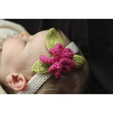 Flowered Baby Headbands Knitting Pattern By Sarah Grieve Knitting