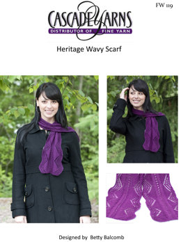 Wavy Scarf in Cascade Heritage - FW119