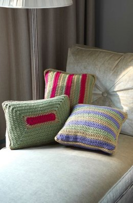 Colorful Throw Pillows in Red Heart With Love Solids - LW3529