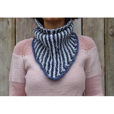 Striped Bandana Cowl Knitting Pattern By Camexiadesigns